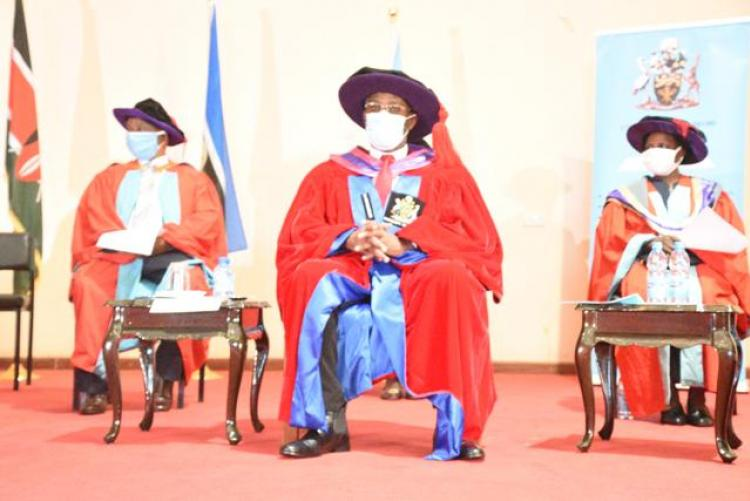 Vice chancellors following a presentation