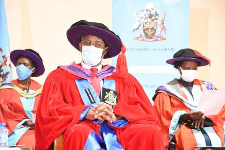 Prof.Kiama following a presentation
