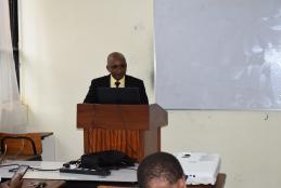 Stephen Waitugi Presenting his thesis
