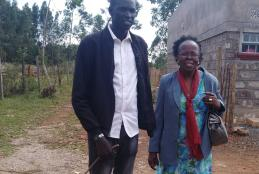 Michael Achek Panchol (CMAAE) student with his Supervisor Dr. Sabina Wangia